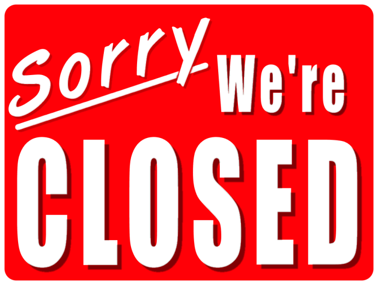 We will be closed Tuesday August 27th and re-open Wednesday at 11 Am
