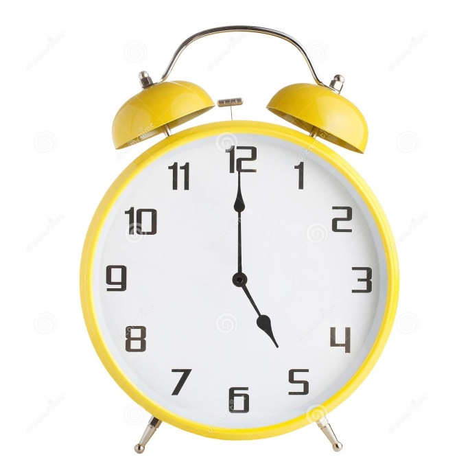analog-alarm-clock-showing-five-o-pm-isolated-white-background-142488730